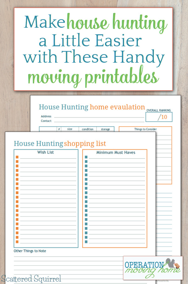 Juicy image inside house hunting checklist printable