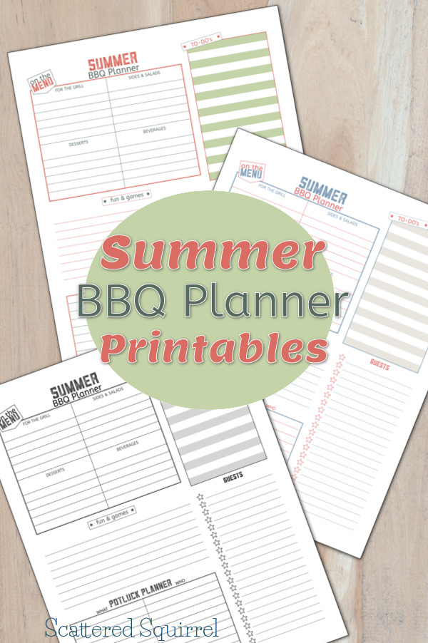 I love hosting barbecues in the summer, so these Summer BBQ Planner Printables are going to come in really handy.