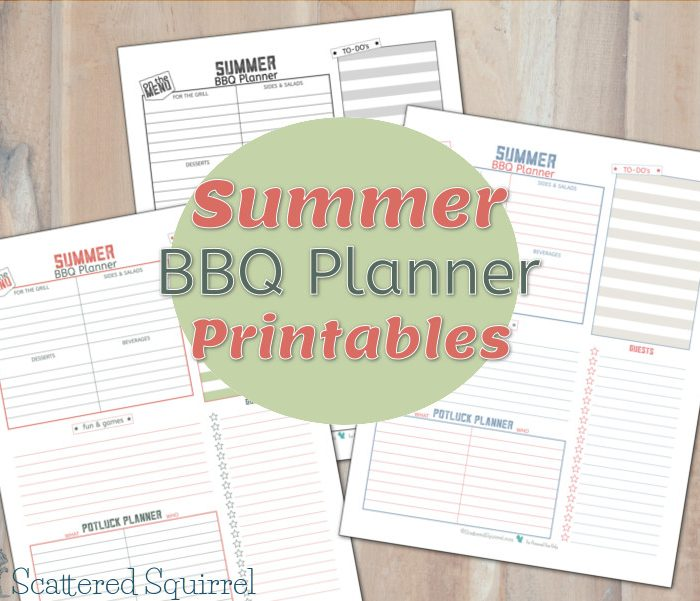 More Summer BBQ Planner Printables