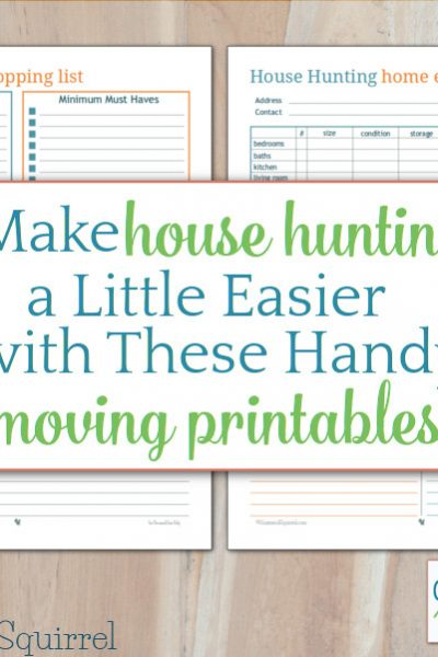 Make house hunting a little easier with these handy moving printables