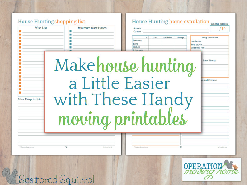 graphic relating to House Hunting Checklist Printable known as Create Area Searching Less complicated with these types of Shifting Printables