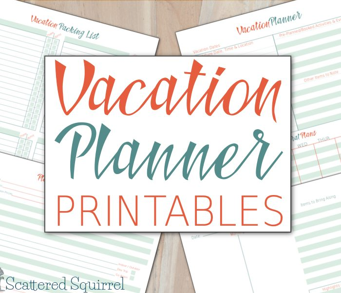 Vacation Planner Printables – Plan the Details, Focus on the Fun
