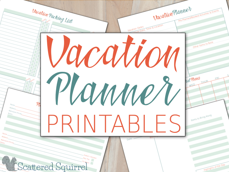 Vacation Planner Printables – Vacation Schedule Template