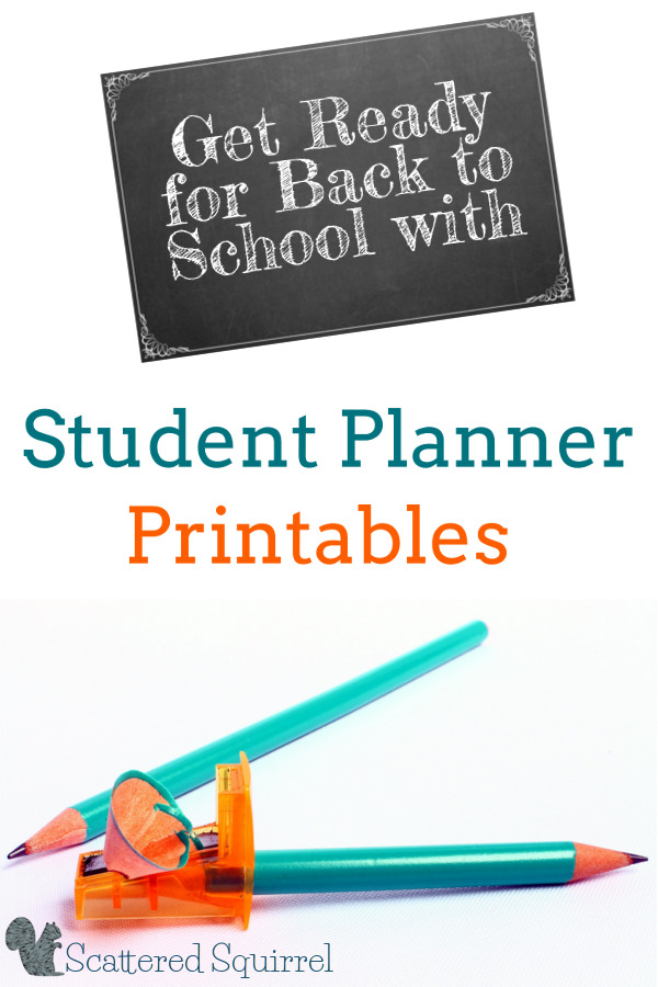 Get ready for back to school with these handy student planner printables. Designed to help middle and highshool school students keep track of their school work.