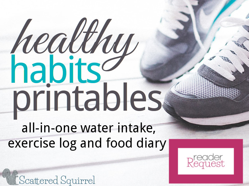 This Healthy Habits Printable will help track your water intake, log your exercise and monitor what you're eating each day.