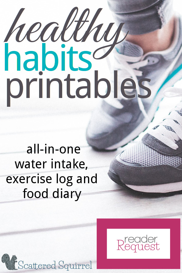 This Healthy Habits Printable will help track your water intake, log your exercise and record what you've eaten each day. It was designed for those who want to give themselves a way to monitor healthy habits.