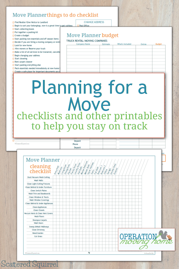 More Move Planner Printables To Help You Stay On Track