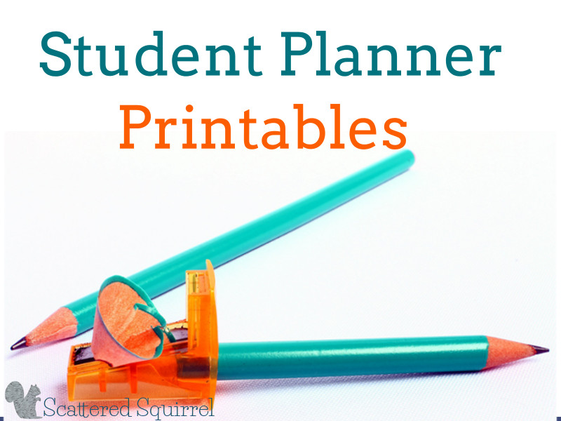 Help your student stay on track this year with these helpful Student Planner Printables