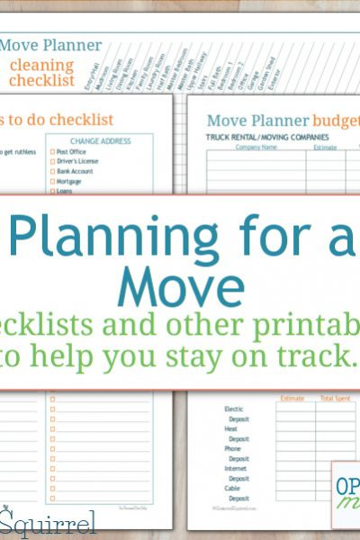 More move planner printables to help you keep track of the things you need to do when you move.