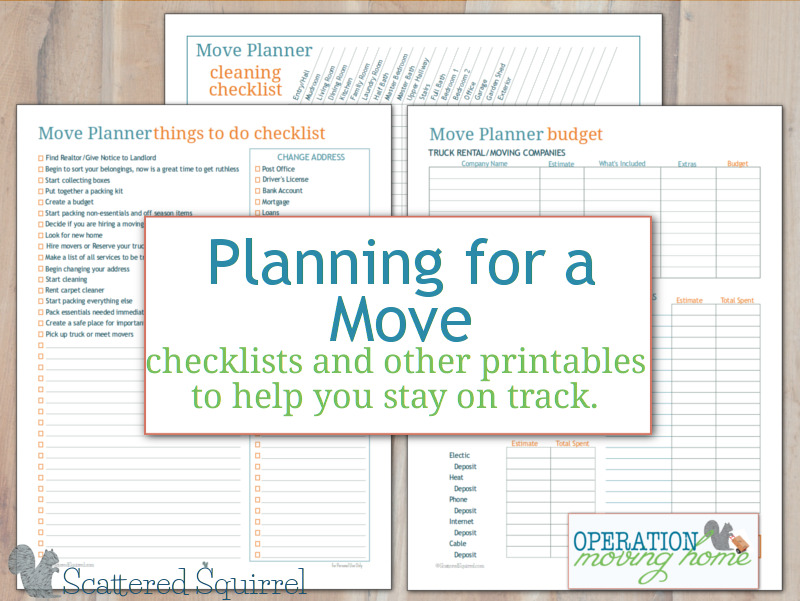 image regarding Stay Organized With a Printable Moving Checklist known as Further more Stream Planner Printables in the direction of Assist By yourself Dwell upon Observe
