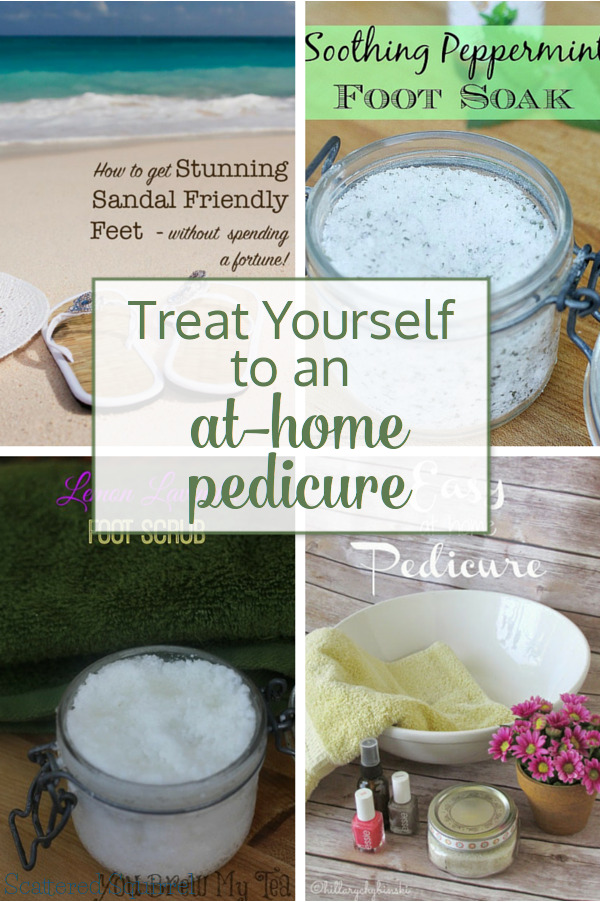 Treat yourself to an at home pedicure! Throw on some comfy clothes, grab some of your favourite snacks, put on your favourite movie or grab your favourite book, kick back, relax and treat to feet to a little pampering.