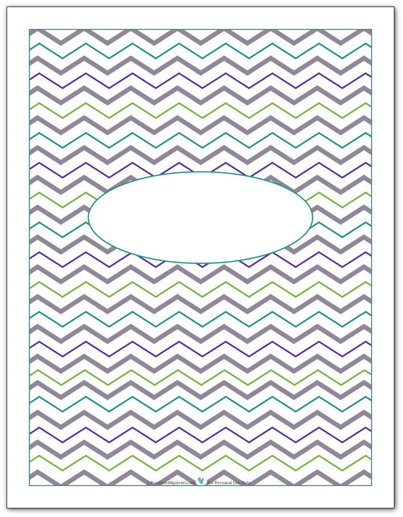 Blank cover or divider printable page