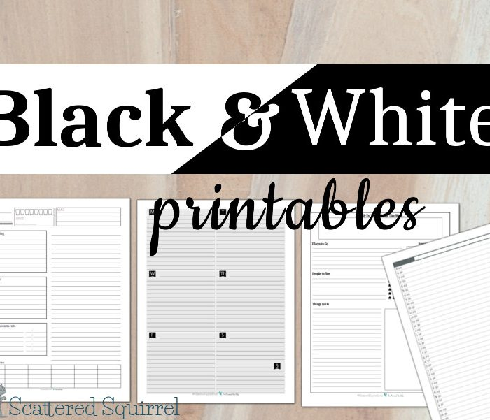 Keeping it Simple With Some Black and White Printables