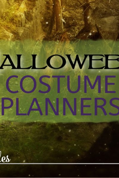 Halloween Costume Planners are a great way to plan those homemade Halloween costumes. WIth room to jot down ideas, sketch plans, and places to keep track of measurements and supply lists.... all you need in one handy little printable.
