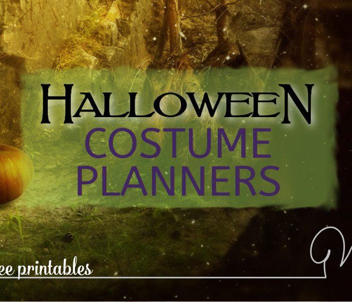 Halloween Costume Planner Printables – Helping Make Halloween Planning a Teeny Bit Easier