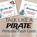 Make the most of Talk Like a Pirate Day with these free printable flash cards full of pirate sayings and their meanings.
