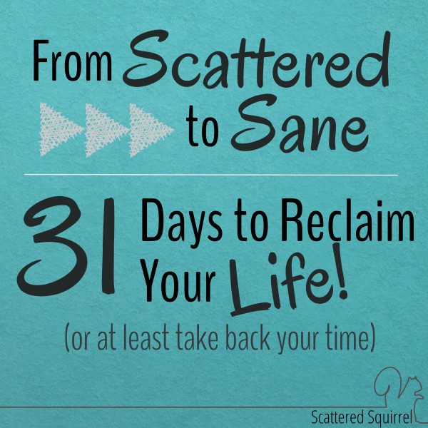 From Scattered to Sane - 31 Days Series