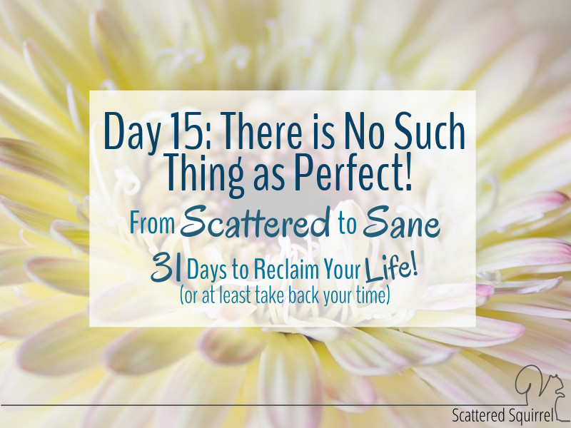 There is no such thing as perfect! All we can do is try our best.