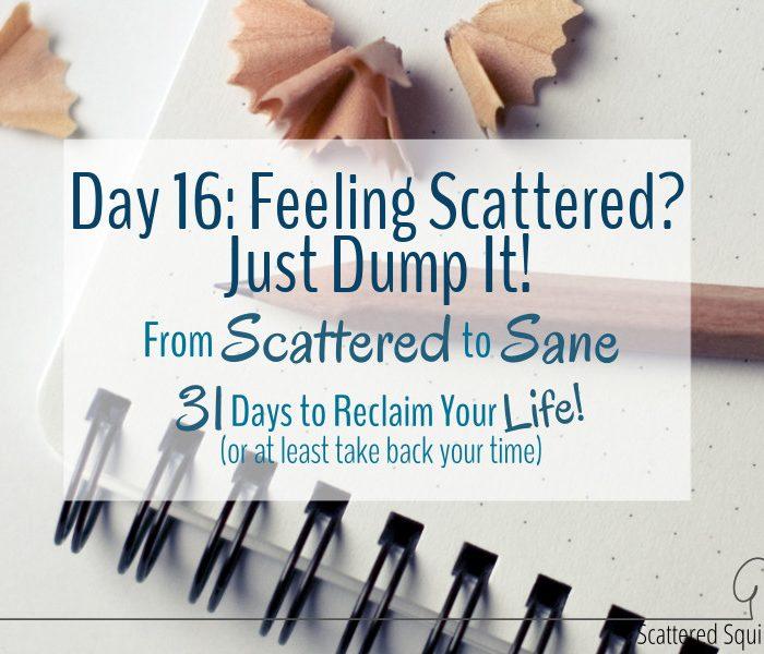Feeling Scattered?  Just Dump It!