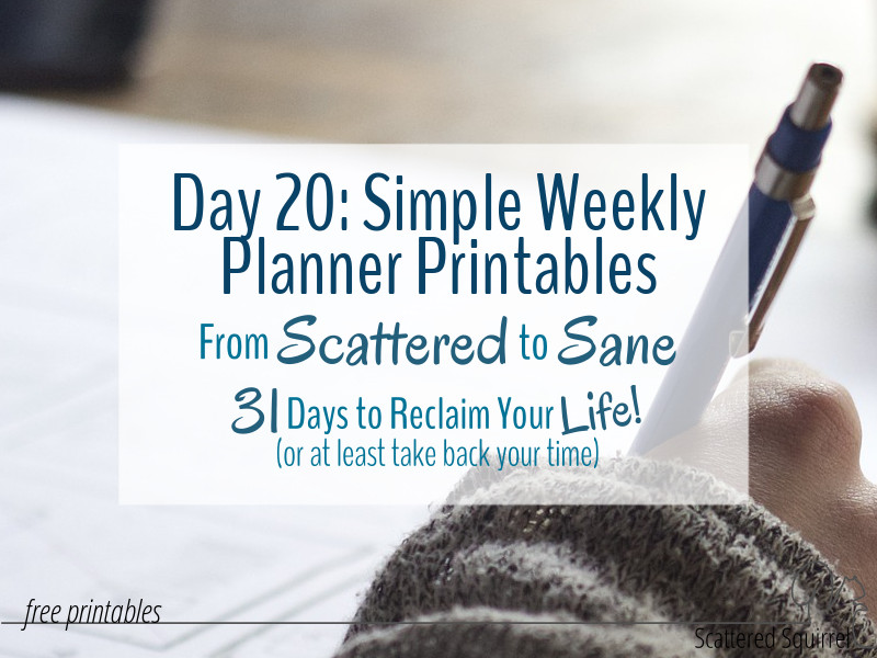 Weekly planner printables are a great addition to any planner.