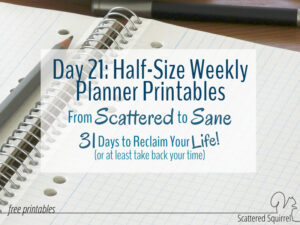 These half-size weekly planner printables are awesome for anyone who needs portability in their planner.