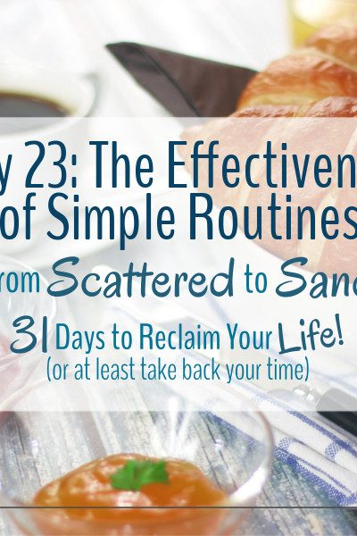 We all have simple routines that we don't think about. Have you wondered what role they play in our day to day lives?