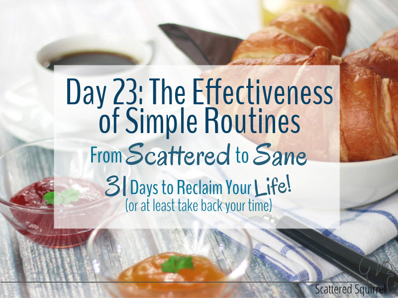 The Effectiveness of Simple Routines