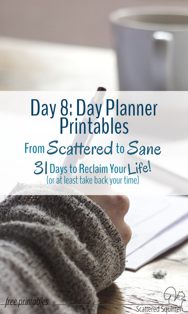 New Day Planner Printables to help you plan your days. All have been designed to match the new 2016 calendars