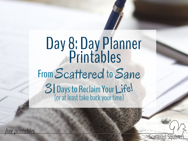 Some new day planner printables to help you plan your days