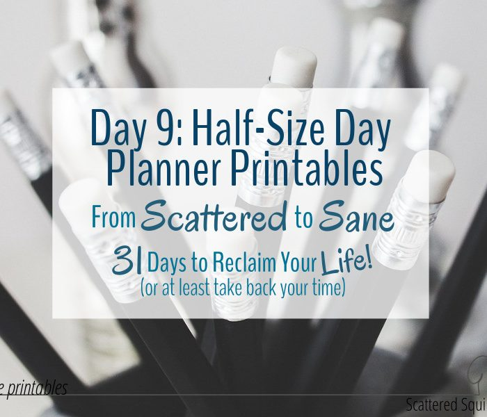 Here Are the Half-Size Day Planner Printables