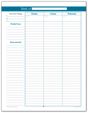 photo regarding Free Weekly Planner Printable identified as Weekly Planner Printables Person Planner