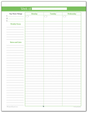 graphic regarding Weekly Planning Sheets named Weekly Planner Printables Specific Planner