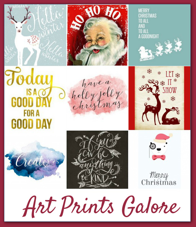 A peak at some of the many gorgeous art prints included in the Ultimate Holiday Bundle