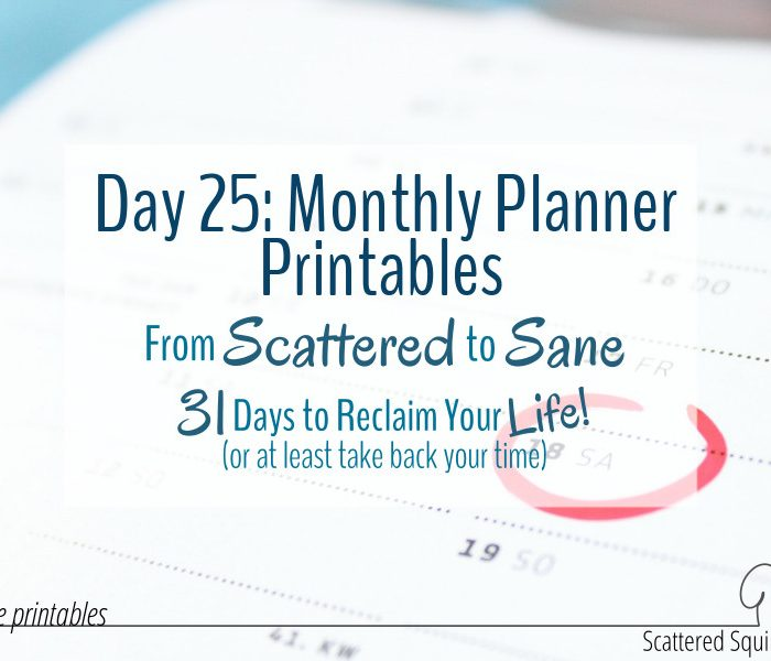 Monthly Planner Printables