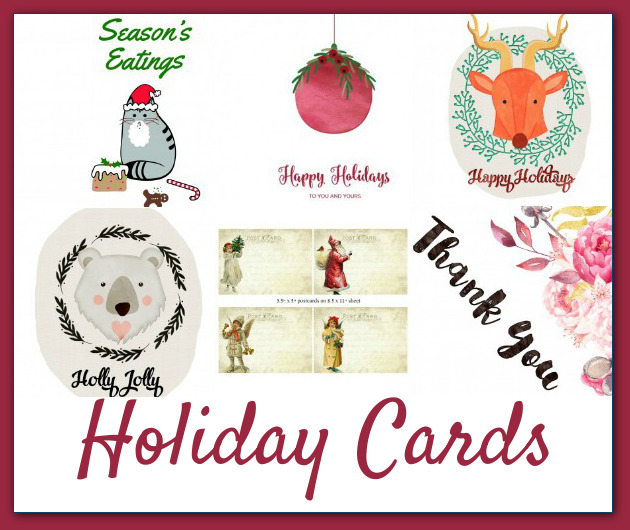 A peak at some of the great greeting cards included in the Ultimate Holiday Bundle