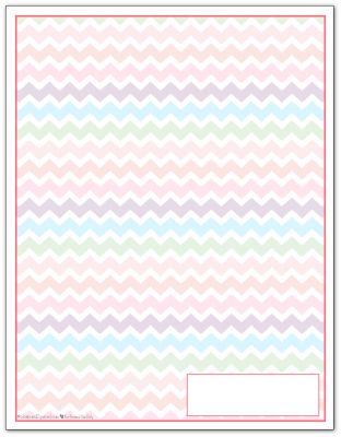 Blush Zigzag Pattern Printable 2016 Planner Cover Page