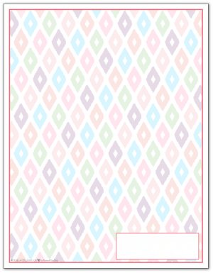 Blush Ikat Pattern Printable 2016 Planner Cover Page