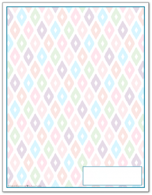 Cobalt Ikat Pattern Printable 2016 Planner Cover Page