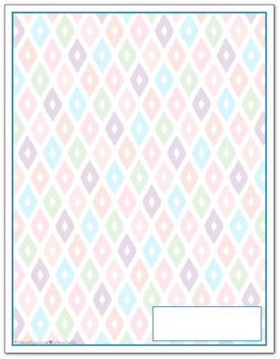 Cobalt Ikat Pattern Printable 2016 Planner Cover Page