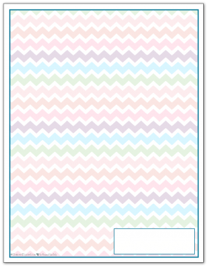 Cobalt Zigzag Pattern Printable 2016 Planner Cover Page