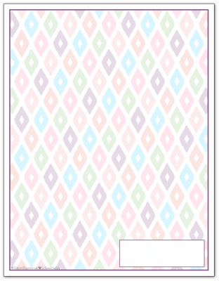 Deep Lilac Ikat Pattern Printable 2016 Planner Cover Page