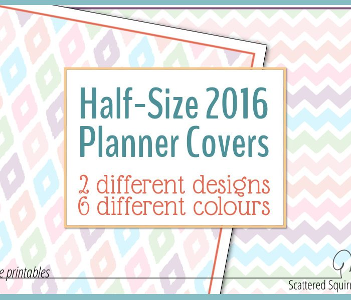 All the Fun at Half the Size!  Check Out the Half-Size 2016 Planner Covers