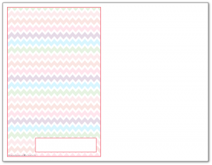 Half-Size Blush Zigzag Pattern Printable 2016 Planner Cover Page