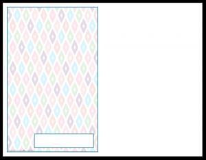 Half-Size Cobalt Ikat Pattern Printable 2016 Planner Cover Page