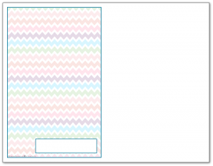Half-Size Cobalt Zigzag Pattern Printable 2016 Planner Cover Page