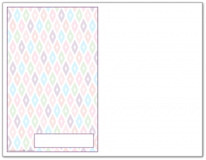 Half-Size Deep Lilac Ikat Pattern Printable 2016 Planner Cover Page