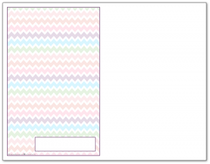 Half-Size Deep Lilac Zigzag Pattern Printable 2016 Planner Cover Page