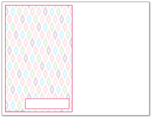 Half-Size Rapsberry Ikat Pattern Printable 2016 Planner Cover Page