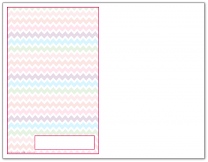 Half-Size Raspberry Zigzag Pattern Printable 2016 Planner Cover Page