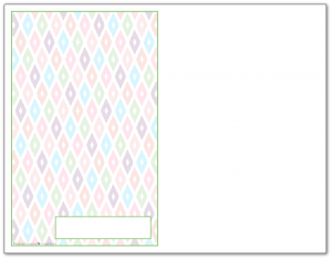 Half-Size Spring Green Ikat Pattern Printable 2016 Planner Cover Page